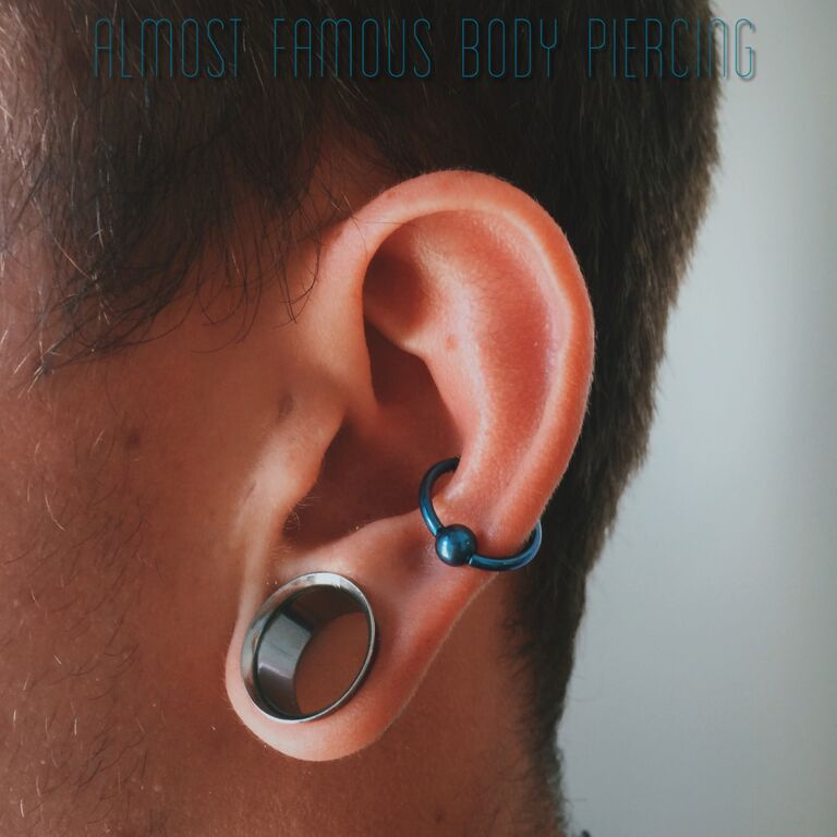 Conch and Strecthed Lobes - Almost Famous Body Piercing