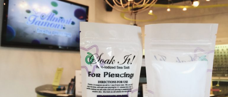 Non-Iodiezed Sea Salt for Piercing Aftercare