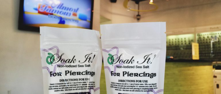 sea salt piercing aftercare - Almost Famous Body Piercing