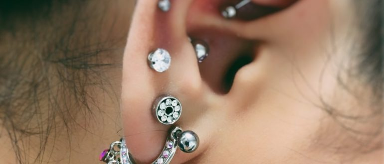 Multiple ear piercings - Almost Famous Body Piercing