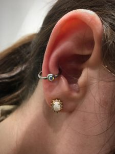Conch piercing 2 - Almost Famous Body Piercing