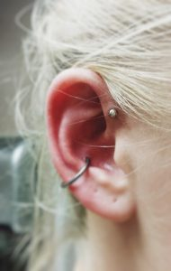 Forward Helix Piercing - Almost Famous Body Piercing